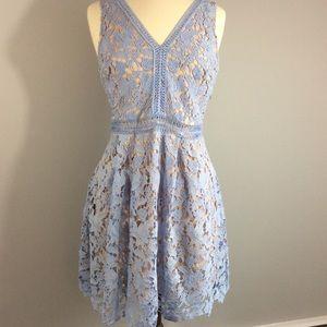 Francesca's Light Blue Dress Sz M